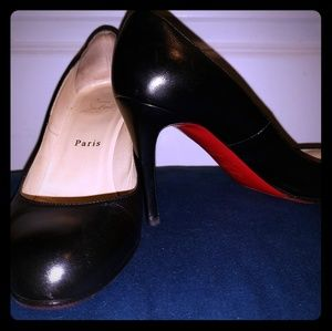 85mm classic black Louboutin heels